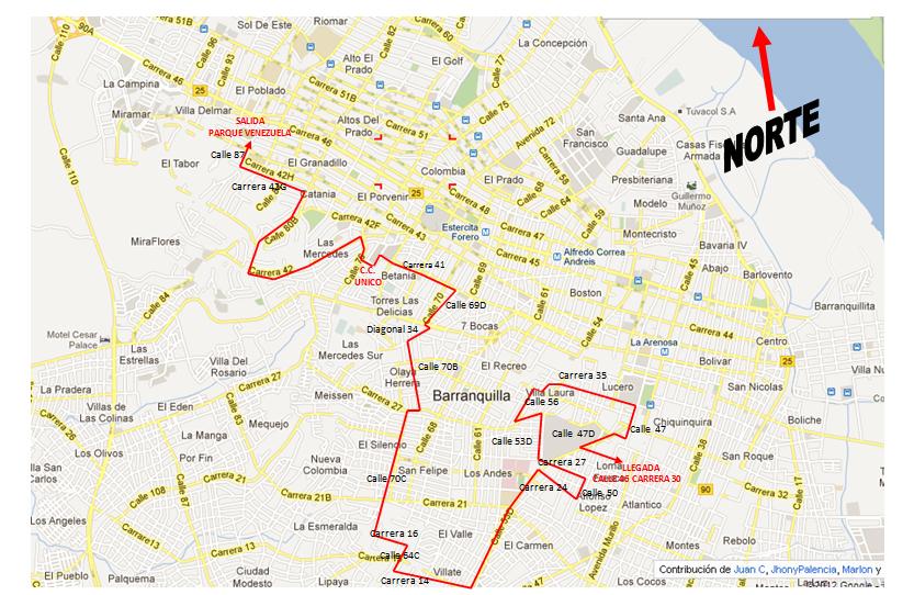 Conozca los cierres viales en barranquilla por carrera san for Barrio ciudad jardin barranquilla
